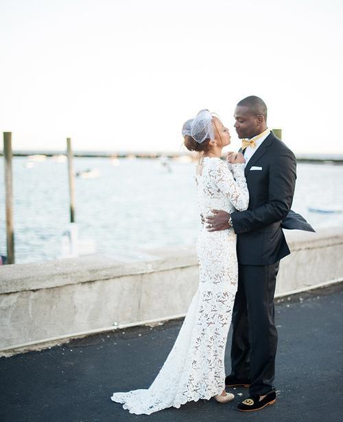 Homemade Lace Body Forming Wedding Dress