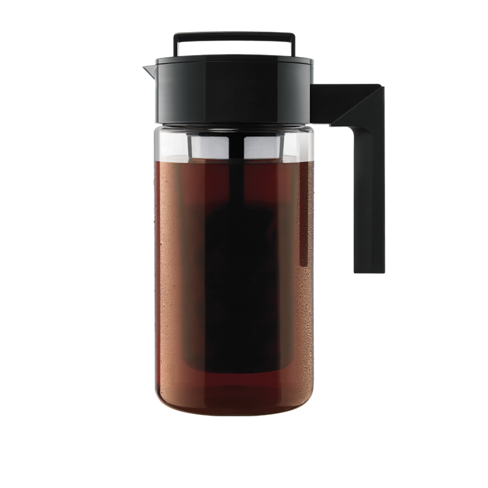 """<p>Help your dear coffer lovers plan ahead for the Monday morning (and Tuesday morning, Wednesday morning, etc.) frenzies by whipping up a one-quart or two-quart batch of energizing coffee with Takeya's Cold Brew Coffee Maker. It's as simple as pouring their grounds of choice into the fine-mesh filter and popping the pitcher into the fridge overnight, and voilà — they've got tasty coffee right at home. Starbucks, who?</p> <p><strong>$22 to $30</strong> (<a href=""""https://www.amazon.com/Takeya-10311-Patented-Airtight-Dishwasher-Safe/dp/B07C36HVWK"""" rel=""""nofollow noopener"""" target=""""_blank"""" data-ylk=""""slk:Shop Now"""" class=""""link rapid-noclick-resp"""">Shop Now</a>)</p>"""