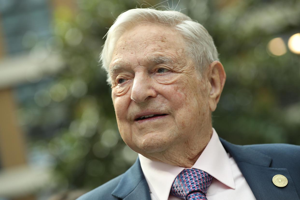 Financier and philanthropist George Soros attends the official opening of the European Roma Institute for Arts and Culture at the German Foreign Ministry on June 8, 2017, in Berlin. (Photo: Sean Gallup/Getty Images)