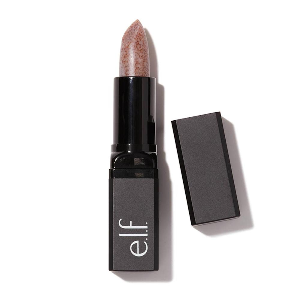 """<p>Swipe the brand's <a href=""""https://www.allure.com/story/elf-lip-exfoliator?mbid=synd_yahoo_rss"""" rel=""""nofollow noopener"""" target=""""_blank"""" data-ylk=""""slk:sugar-spiked Lip Exfoliator"""" class=""""link rapid-noclick-resp"""">sugar-spiked Lip Exfoliator</a> over your chapped lips to smooth away flakiness in seconds. Your lips will be happier and even a bit plumper once you're done.</p> <p><strong>$4</strong> (<a href=""""https://shop-links.co/1622752822455142962"""" rel=""""nofollow noopener"""" target=""""_blank"""" data-ylk=""""slk:Shop Now"""" class=""""link rapid-noclick-resp"""">Shop Now</a>)</p>"""