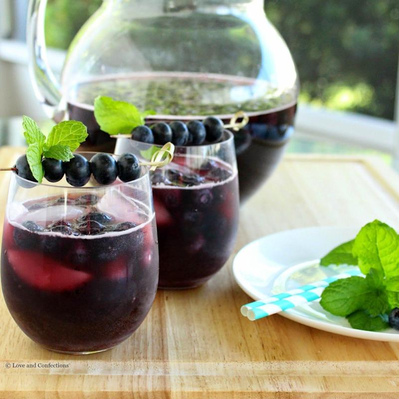 "<strong>Get the <a href=""http://www.loveandconfections.com/2015/05/blueberry-sangria-brunchweek.html"" target=""_blank"">Blueberry Sangria recipe </a>from Love And Confections</strong>"