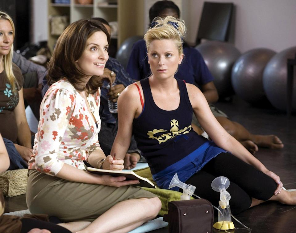 """<p>Starring <a class=""""link rapid-noclick-resp"""" href=""""https://www.popsugar.com/Tina-Fey"""" rel=""""nofollow noopener"""" target=""""_blank"""" data-ylk=""""slk:Tina Fey"""">Tina Fey</a> and <a class=""""link rapid-noclick-resp"""" href=""""https://www.popsugar.com/Amy-Poehler"""" rel=""""nofollow noopener"""" target=""""_blank"""" data-ylk=""""slk:Amy Poehler"""">Amy Poehler</a>, this comedy revolves around a single executive's journey to have a baby via surrogacy, though she never expects that the surrogate she hires will end up moving in with her and throwing a wrench in her carefully-constructed life. </p> <p><a href=""""http://www.netflix.com/title/70084794"""" class=""""link rapid-noclick-resp"""" rel=""""nofollow noopener"""" target=""""_blank"""" data-ylk=""""slk:Watch Baby Mama on Netflix"""">Watch<strong> Baby Mama </strong>on Netflix</a>. </p>"""