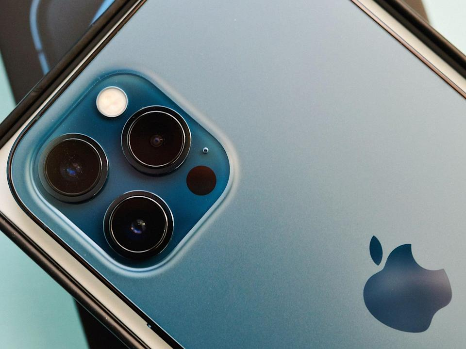 An iPhone 12 Pro Max pictured on 17 November 2020 (Getty Images)