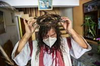 Julio Mario Valencia is known in Lima as the 'Cholo Christ', a word used to refer to people of indigenous ancestry, for his yearly reincarnation of Jesus