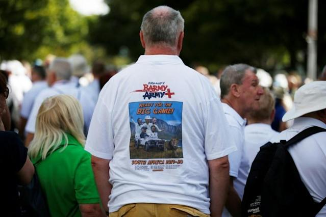 Fan clubs: An England cricket supporter wears a 'Barmy Army' shirt (AFP Photo/MARCO LONGARI)
