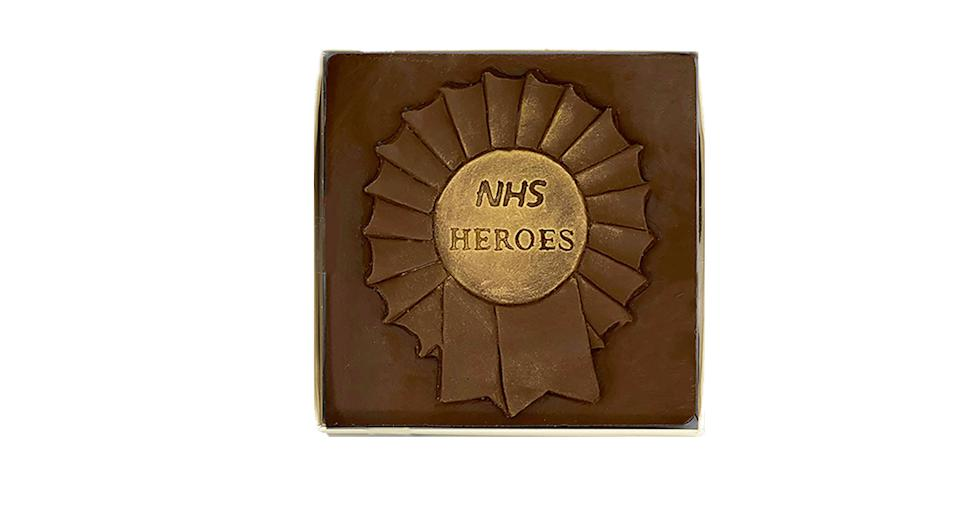 Choc on Choc NHS Heroes Milk Chocolate Rosette
