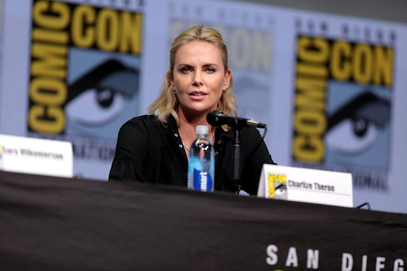 Charlize Theron at a press conference