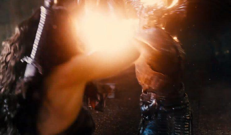 Here's our first glimpse of Ares fighting Wonder Woman - Credit: Warner Bros.
