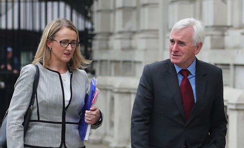 Rebecca Long-Bailey and John McDonnell (Photo: ISABEL INFANTES via Getty Images)