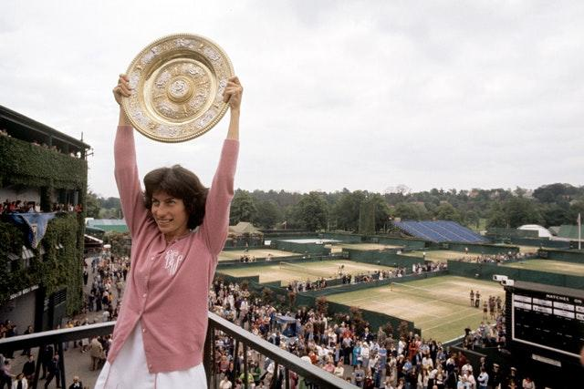 Virginia Wade remains the last British woman to hoist aloft a grand slam singles title (PA)