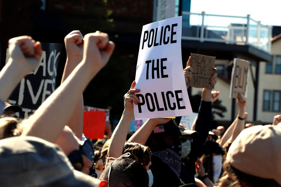 A protest on policing reform in Pittsburgh in 2020.