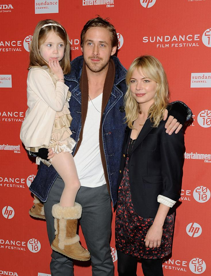 "Faith Wladyka, <a href=""http://movies.yahoo.com/movie/contributor/1804035474"">Ryan Gosling</a> and <a href=""http://movies.yahoo.com/movie/contributor/1800018861"">Michelle Williams</a> at the 2010 Sundance Film Festival premiere of <a href=""http://movies.yahoo.com/movie/1809945752/info"">Blue Valentine</a> - 01/24/2010"