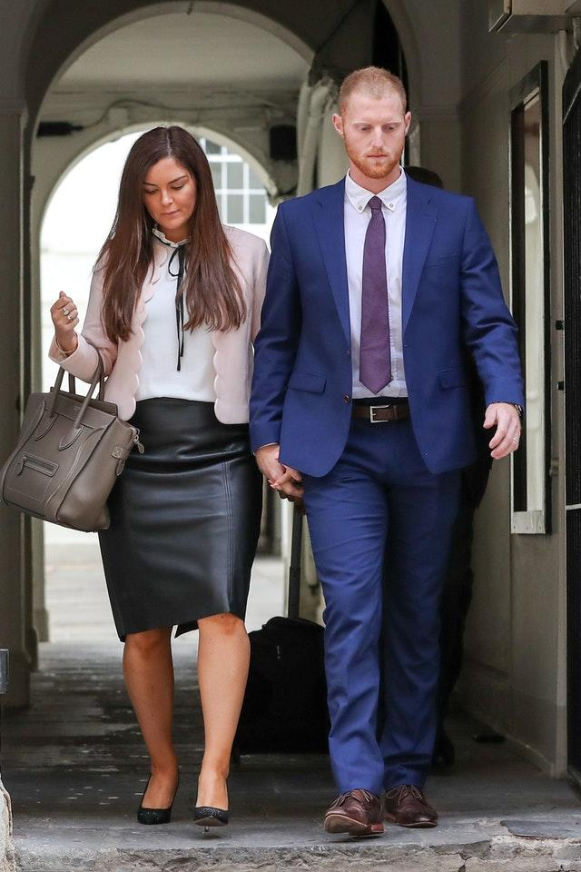 Clare Stokes supported her husband throughout his court case (Andrew Matthews/PA).