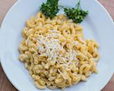 """<p>For those of us that devoured Kraft Dinner as a staple while students (or just because we loved it) you are in luck. If you're vegan, or just looking for an alternative to dairy, there's no need to ditch the dish. If you are in a rush <a rel=""""nofollow noopener"""" href=""""http://daiyafoods.com/our-foods/cheezy-mac/deluxe-cheddar-style/"""" target=""""_blank"""" data-ylk=""""slk:Daiya Cheezy Mac"""" class=""""link rapid-noclick-resp"""">Daiya Cheezy Mac</a> will satisfy your craving and everything you need is in one box. If you are feeling creative, grab your favourite pasta, non-dairy milk, margarine and creamy <a rel=""""nofollow noopener"""" href=""""http://fieldroast.com/product/chao-slices/"""" target=""""_blank"""" data-ylk=""""slk:Chao cheese slices"""" class=""""link rapid-noclick-resp"""">Chao cheese slices</a> made from coconut milk. If you pop Chao slices in the freezer for five minutes they become chilled and you can grate them so they shred to melt into a yummy cheese sauce over cooked noodles. <i>(Photo by Getty Images)</i> </p>"""