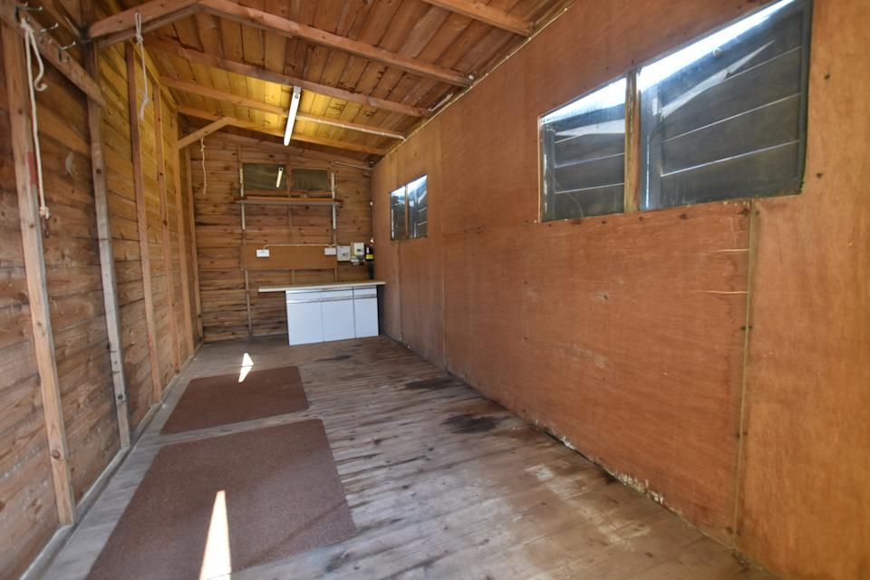 The shed is ripe for a makeover (Image: Bradleys Estate Agents/SWNS)