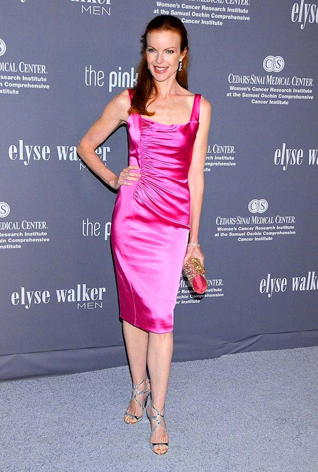"Marcia Cross' magnificent magenta dress accentuates her fair skin tone. Gregg DeGuire/<a href=""http://www.wireimage.com"" target=""new"">WireImage.com</a> - September 13, 2008"