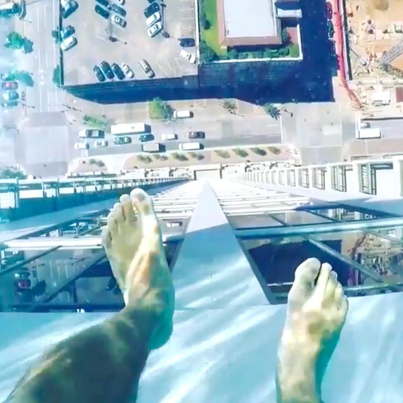 WHOA, This Glass Pool in Houston Is Suspended 500 Feet in the Air - Cool or Terrifying?