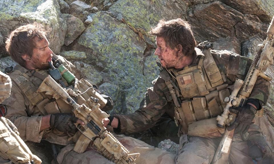 """<p><b>Synopsis:</b> In 2005 Afghanistan, Navy SEALs Marcus Luttrell (Mark Wahlberg), Michael Murphy (Taylor Kitsch), Danny Dietz (Emile Hirsch) and Matthew """"Axe"""" Axelson (Ben Foster) deploy on a mission of surveillance and to take out Taliban leader Ahmad Shah. Though spotted by goatherds, Luttrell and his team decide not to kill them. But one of the Afghans alerts a group of Taliban fighters to the invaders, and a terrible battle ensues, in which the SEALs find themselves hopelessly outnumbered and outgunned. </p>"""