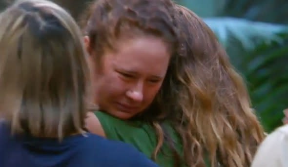 I'm a Celebrity star Mel Buttle has quit the show in tears after a phobia-induced breakdown. Photo: Channel 10.