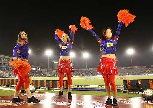 The same year, however, a lot of brouhaha was made of the attire worn by the cheerleaders and they were asked to 'cover up', keeping the Indian sentiments in mind. (Getty Images)