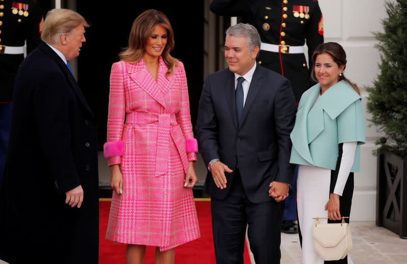 FILE PHOTO: U.S. President Trump welcomes Colombian President Duque to the White House in Washington