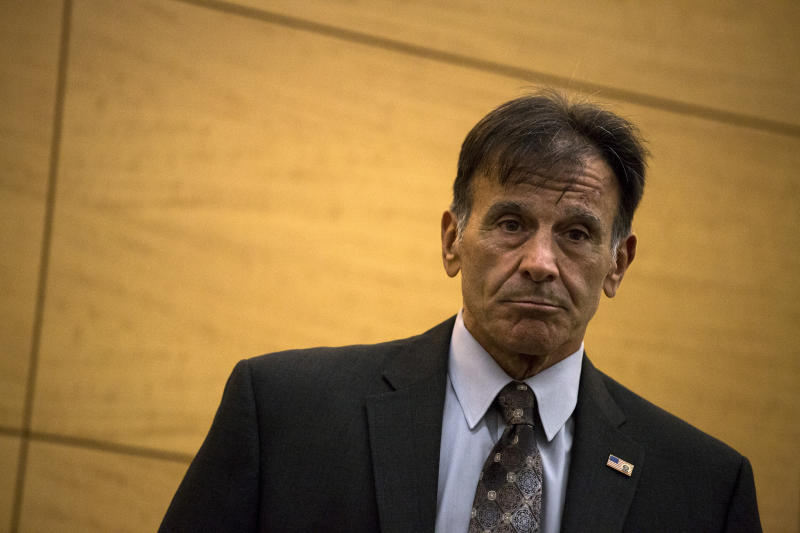 Louis Scarcella, the retired NYPD homicide detective, during a wrongful conviction hearing in Brooklyn, Oct. 9, 2015. (John Taggart/The New York Times)