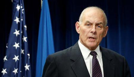 Homeland Security Secretary John Kelly delivers remarks on issues related to visas and travel