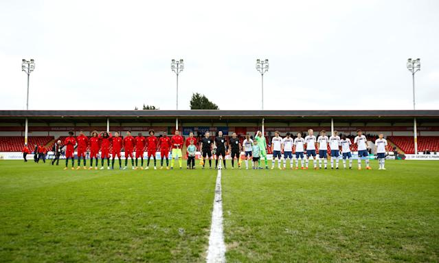Soccer Football - UEFA European Under-17 Championship - Group B - Portugal v Norway - The Banks's Stadium, Walsall, Britain - May 4, 2018 Portugal and Norway line up before the match Action Images via Reuters/Peter Cziborra