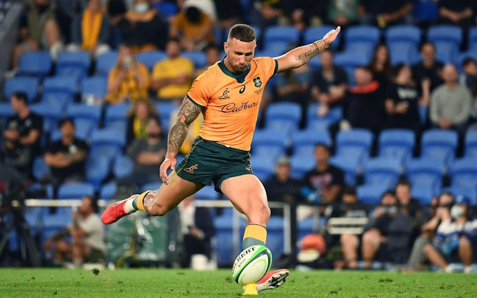 Australia's player Quade Cooper in action during the Rugby Championship Round 3 match between South Africa's Springboks and Australia's Wallabies at CBus Stadium, Gold Coast, Queensland, Australia - SHUTTERSTOCK