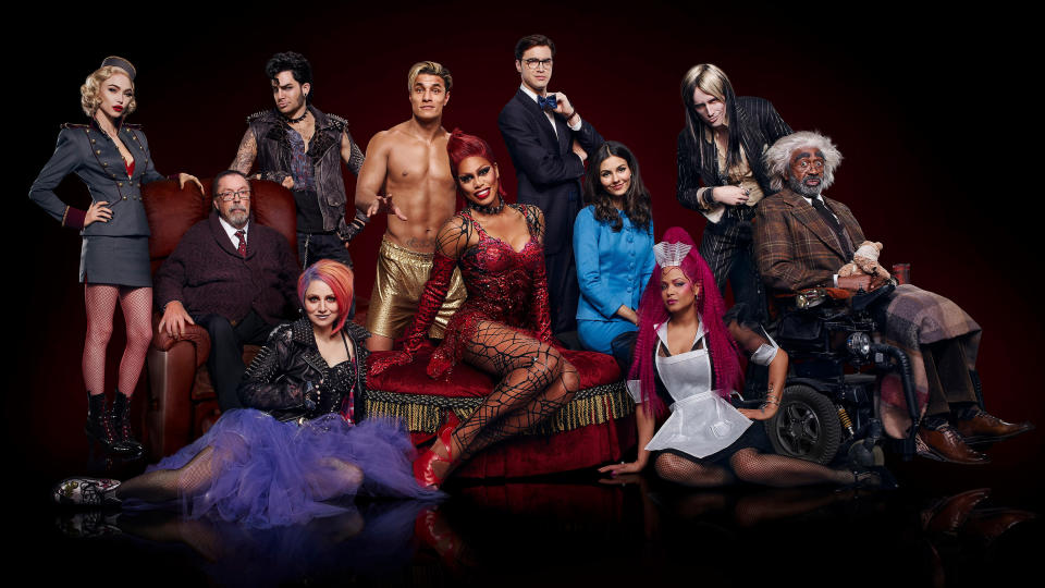 The cast of 'The Rocky Horror Picture Show: Let's Do the Time Warp Again'. (Photo by FOX via Getty Images)