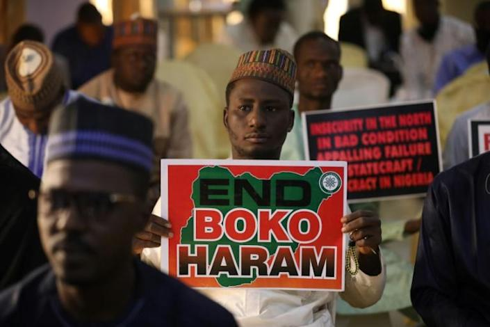 Protestors turned a spotlight on the troubled anti-jihadist campaign after hundreds of schoolboys were abducted in Katsina