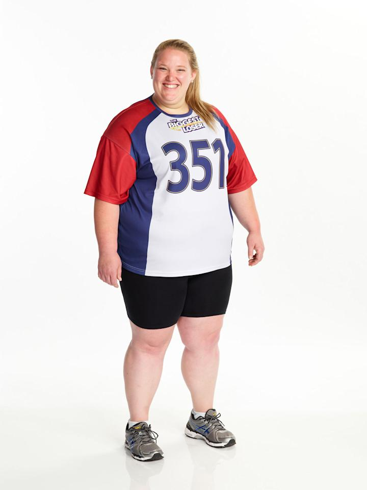 "Holley Mangold competes on NBC's ""The Biggest Loser"" Season 15."