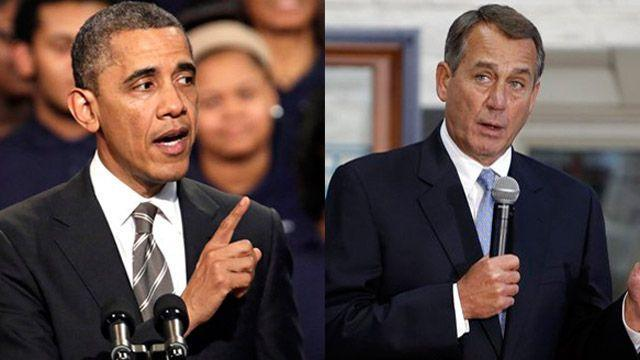 Congressional Republicans led by House Speaker Boehner have one message for Pres. Obama: You created the spending crisis, so fix it