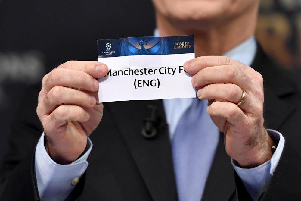 Manchester City won Group F and will be among the top seeds: Fabrice Coffrini/AFP/Getty Images