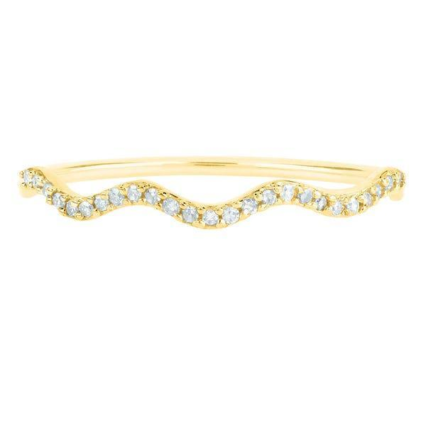 """<h3>Helzberg Diamonds Wavy 10K Gold Band<br></h3> <br>This slim, undulating band in 10K gold is a serious score at less than $130 — it's even studded with 25 single-cut diamonds.<br><br><em>Shop <strong><a href=""""https://www.helzberg.com/"""" rel=""""nofollow noopener"""" target=""""_blank"""" data-ylk=""""slk:Helzberg Diamonds"""" class=""""link rapid-noclick-resp"""">Helzberg Diamonds</a></strong></em><br><br><strong>Helzberg Diamonds</strong> Wavy Diamond Band in 10K Yellow Gold, $, available at <a href=""""https://go.skimresources.com/?id=30283X879131&url=https%3A%2F%2Fwww.helzberg.com%2Fdiamond-band-2425860%2F"""" rel=""""nofollow noopener"""" target=""""_blank"""" data-ylk=""""slk:Helzberg Diamonds"""" class=""""link rapid-noclick-resp"""">Helzberg Diamonds</a><br><br><br>"""