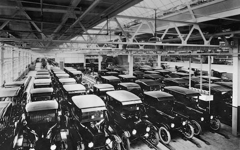 Model T Ford factory - Credit: Hulton Archive