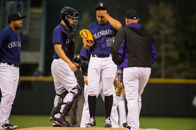Rockies pitching coach Steve Foster might have the worst job in sports. (Getty Images)
