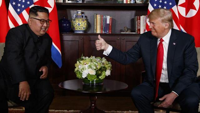 Trump, Kim meet for historic summit on Sentosa island