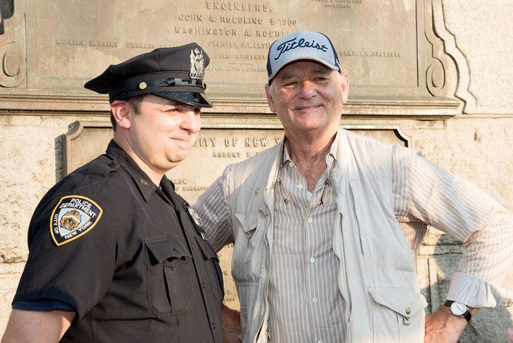 Actor Bill Murray (R) attends the 22nd Annual Poets House Poetry Walk across The Brooklyn Bridge on June 12, 2017 in New York Cit