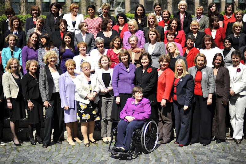 <strong>Some of Labour's female MPs outside Parliament.</strong> (PA Archive/PA Images)