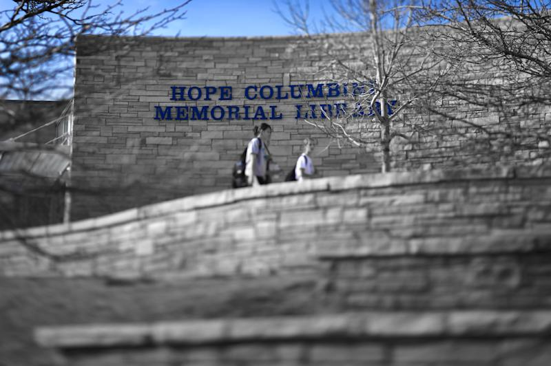The Hope Columbine Memorial Library at Columbine High School, Littleton, CO was built following the shootings on April 20, 1999.