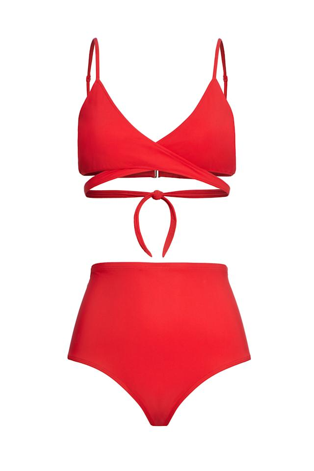 """<p><strong>Moloco</strong></p><p>shopmoloco.com</p><p><a href=""""https://shopmoloco.com/products/jojo-bikini-top-1"""" target=""""_blank"""">Shop Now</a></p>The Jojo wrap top has got you covered... literally! The hidden nursing panel allows you breastfeed your baby without having to expose your full breast. A multitasker, like our mamas, Jojo's versatile, adjustable design can also be worn pre- and post- breastfeeding as a normal bikini top.COLOR: Tomato"""