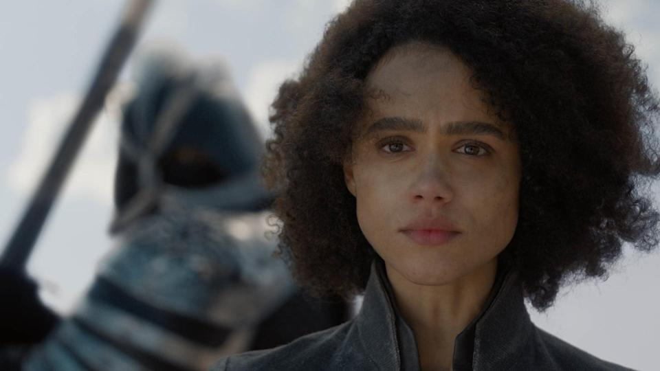 """<p>After she is captured by Cersei's army in """"The Last of the Starks"""" (which happens entirely off screen, mind you), I can honestly say I wasn't exactly holding out for a happy ending for Missandei. Daenerys's attempts to have Missandei freed at the gates of King's Landing fail, and <a href=""""https://www.popsugar.com/entertainment/How-Does-Missandei-Die-Game-Thrones-Season-8-46111056"""" rel=""""nofollow noopener"""" target=""""_blank"""" data-ylk=""""slk:her loyal adviser is beheaded by The Mountain after saying &quot;dracarys&quot; as her last words"""" class=""""link rapid-noclick-resp"""">her loyal adviser is beheaded by The Mountain after saying """"dracarys"""" as her last words</a>. Missandei's death isn't necessarily a surprise - we admit that there was no shot of Cersei forking her over to her biggest enemy - but to see one of the few women on the series (and the only woman of color) die in the chains she escaped in season three is such a slap in the face. </p> <p>Overall, it seems Missandei's demise happens only to move Dany's plot forward, giving the ruler yet another reason to morph into the Mad Queen down the line. Yes, Missandei had always been a supporting character, but we've gotten to know her well enough that she deserved a far more fulfilling and honorable death. Not to mention, her death happens so quickly that we barely have enough time to process Grey Worm's tragic reaction to watching the love of his life beheaded. The entire sequence is a very unjust end to a strong character.</p>"""