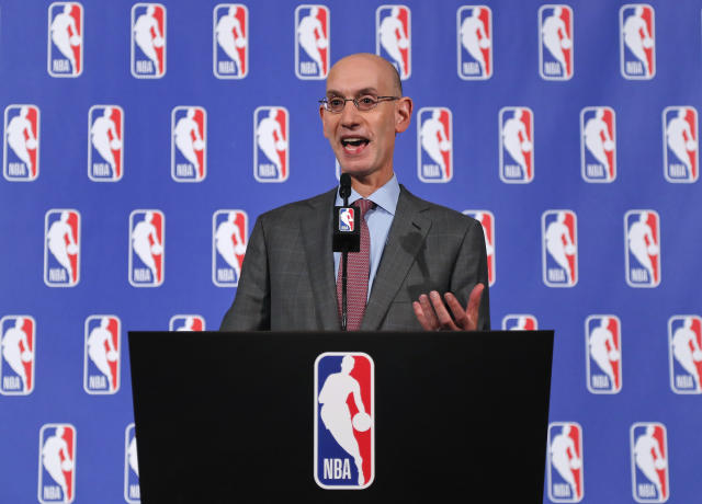 NBA commissioner Adam Silver worked quickly to protect the league's marquee televised games. (AP)