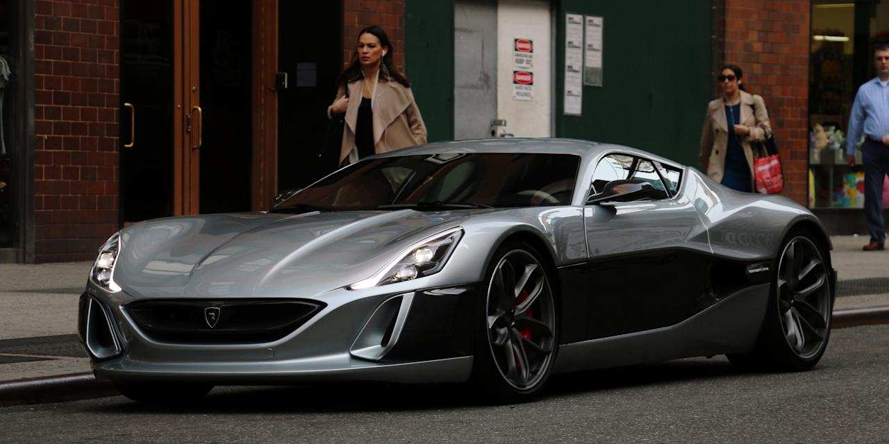 riding in the rimac concept one in new york city. Black Bedroom Furniture Sets. Home Design Ideas