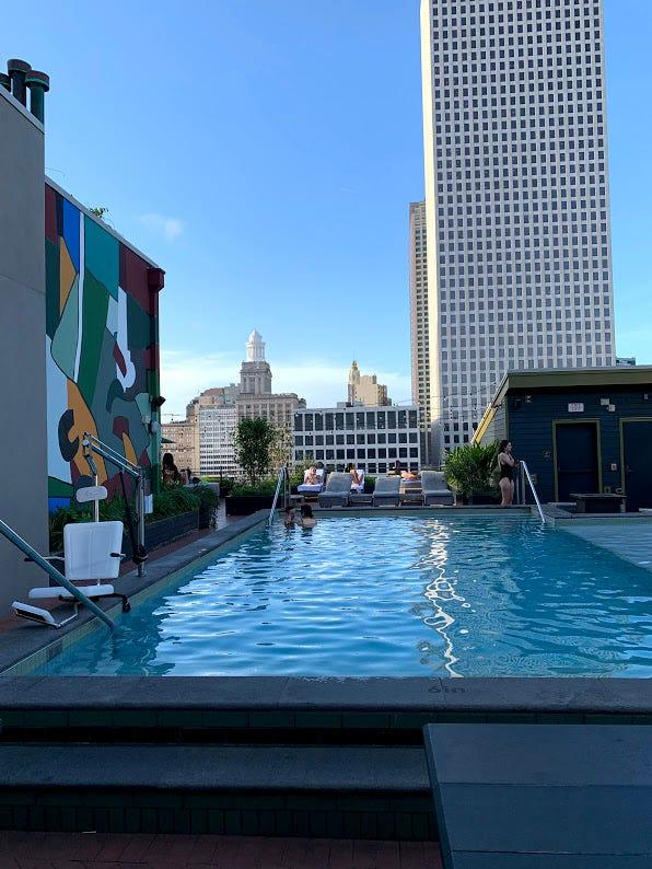 The Alto Rooftop Bar & Pool at the Ace Hotel in the Central Business District is a perfect place to relax and cool down after a long day running around the city.
