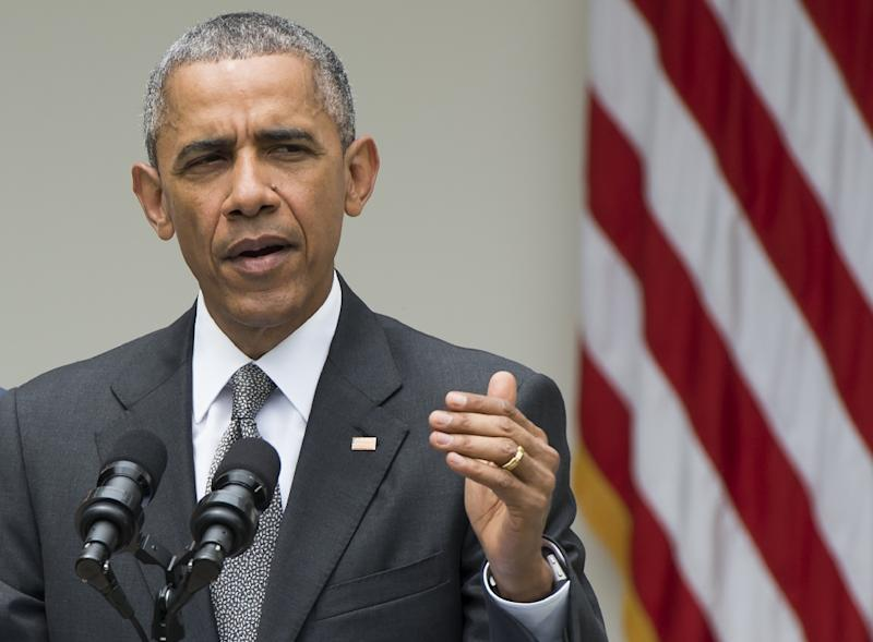 US President Barack Obama praised the Supreme Court ruling to allow gay marriage nationwide (AFP Photo/Saul Loeb)
