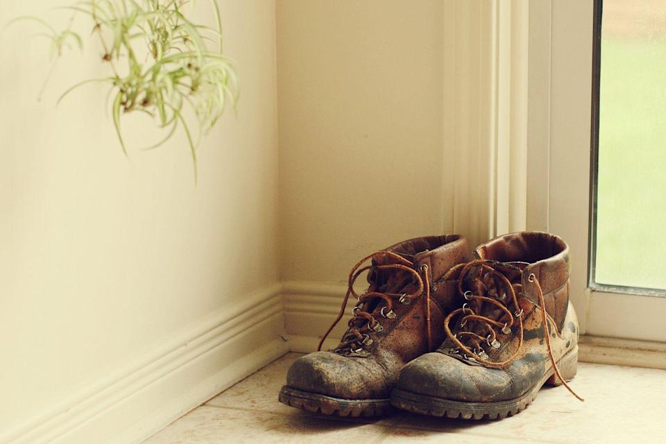 """<p>Like it or not, your shoes are already tracking <a href=""""https://www.countryliving.com/home-maintenance/cleaning/a36914/dont-wear-shoes-in-house/"""" rel=""""nofollow noopener"""" target=""""_blank"""" data-ylk=""""slk:bacteria all of over your house"""" class=""""link rapid-noclick-resp"""">bacteria all of over your house</a>. Don't let the stench travel too. If the odor reaches your nose, buy some new sneaks.</p>"""