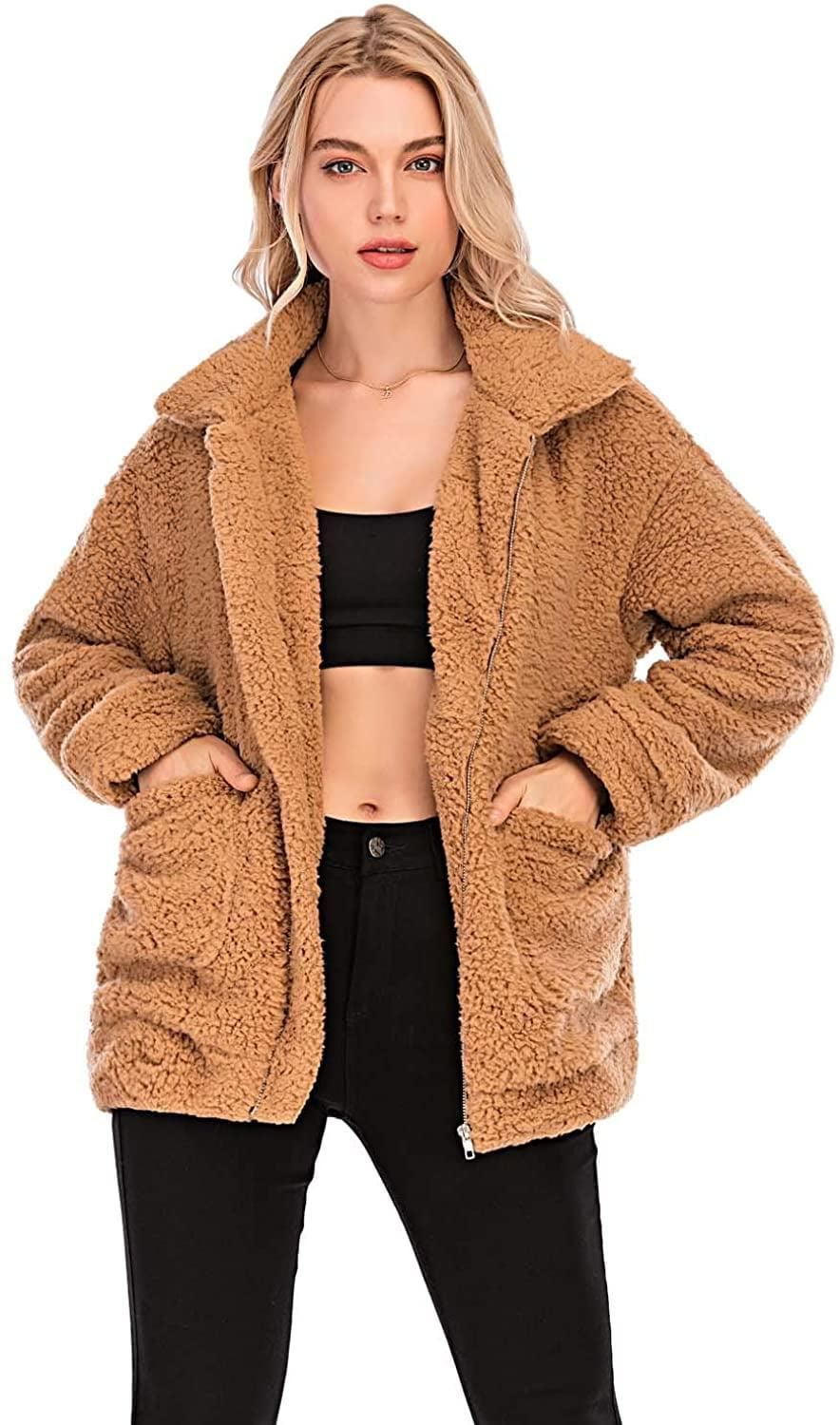 <p>They'll never tire of wearing this <span>Comeon Faux Fur Jacket</span> ($29-$32).</p>