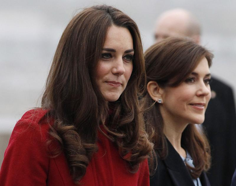 The Duchess Of Camrbridge and Crown Princess Mary Of Denmark